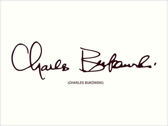 firma di Charles Bukowski