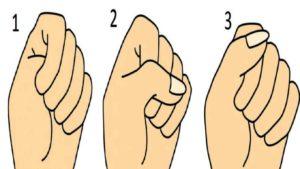 Come stringi il pugno? dalla risposta si capisce il carattere di una persona