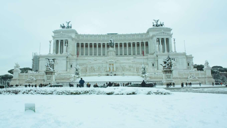 Neve a Roma Piazza Venezia